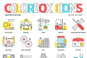 Colorbox icons, Construction