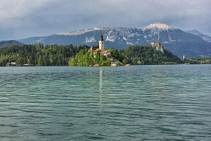 Lake Bled on a spring day