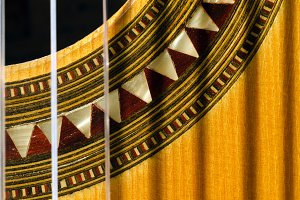 Closeup of a Spanish Guitar
