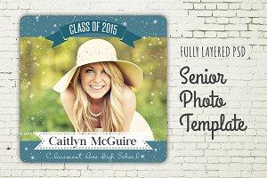 Senior Graduation Photo PSD Template