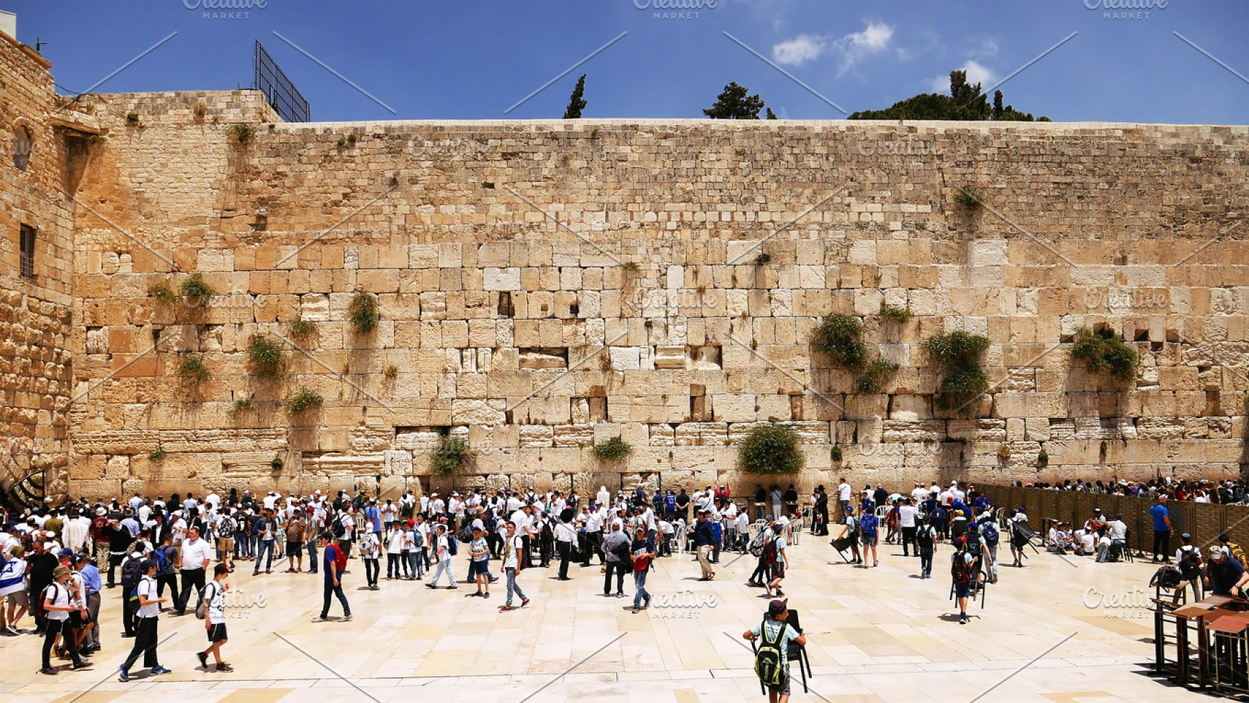 Western Wall or Wailing Wall or Kotel in Jerusalem   High-Quality ...