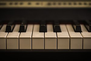 musical instrument, piano keys closeup