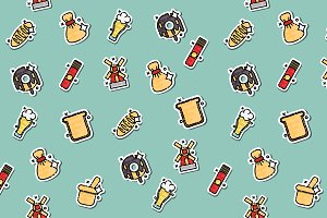 Colored Wheat concept icons pattern