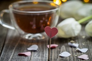 Valentine's day tea Cup with heart