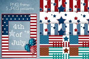 SALE 4th of July frame and patterns