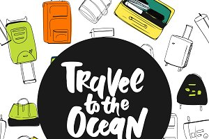 Travel lettering. 7 quotes