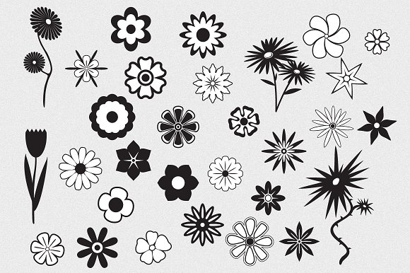 Flowers Vector Pack ~ Objects ~ Creative Market