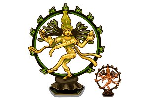 Vector Hindu figurines of Cali