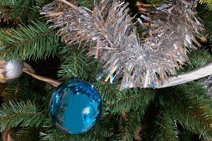 Xmas balls in the tree