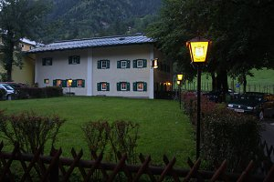 House in Austria. Evening.