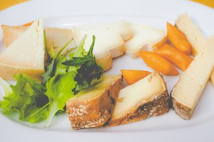 Cheese platter, faded vintage look
