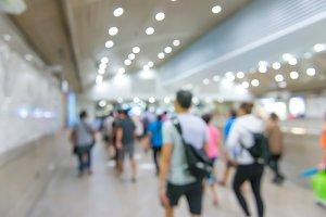blur People Walking in the corridor