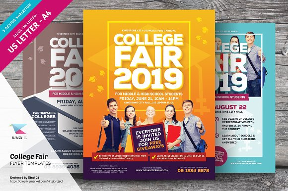 College Fair Flyer Templates ~ Flyer Templates ~ Creative Market