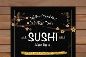 Sushi Restaurant Brochure
