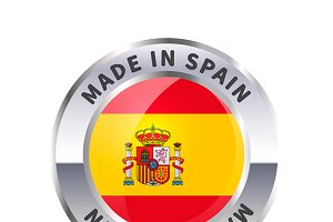Metal badge icon, made in Spain