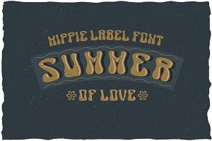 Summer Hippie Label Typeface