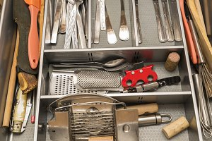 utensils in the kitchen