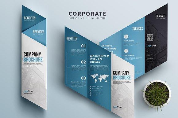corporate trifold brochure brochure templates creative market