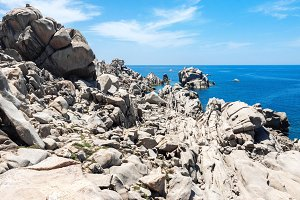 Natural rock formations in Sardinia