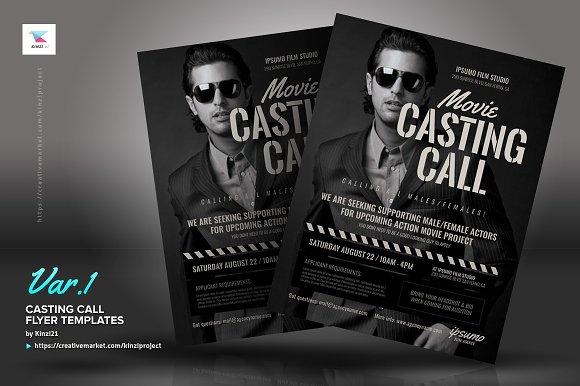 Casting Call Flyer Templates Creative Market