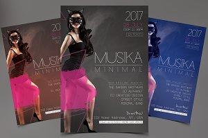 Musica Minimal - PSD Flyer Template