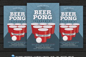 Beer Pong Party Flyer