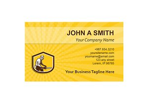 Business card template  Lumberjack O