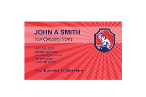 Business card template Blacksmith St