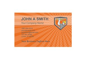 Business card template Electrician L