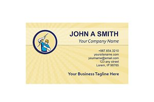 Business card template Electrician H