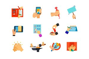 Everyday life icon set