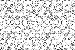 Doodle circles in black and white