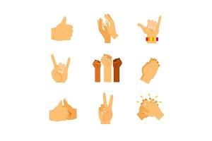 Gestures icon set