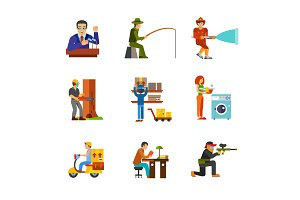 Job icon set