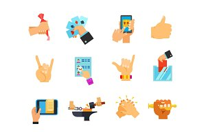 Leisure time icon set