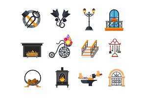 Metalwork icon set