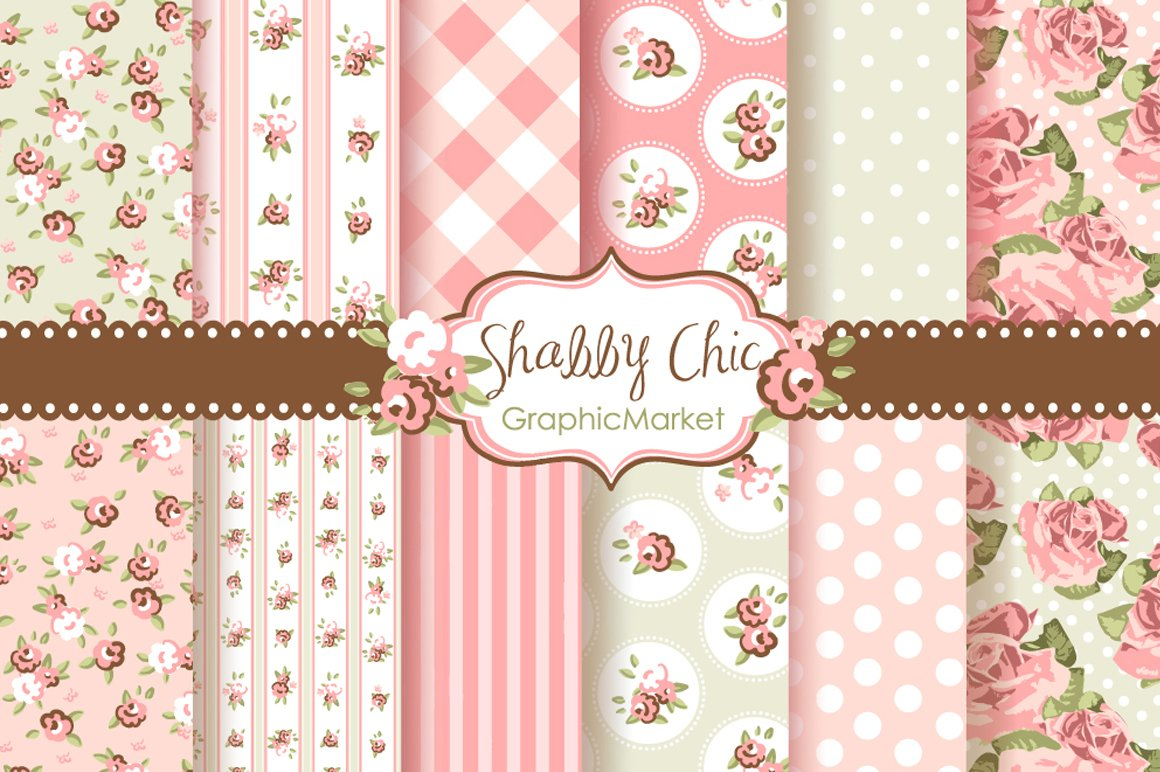 Shabby chic background Photos, Graphics, Fonts, Themes, Templates ...