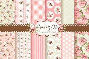 Shabby Chic Rose Digital Patterns