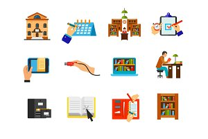 Self-education Icon set