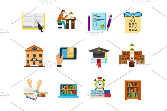 Education And Exam Icon Set