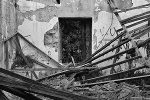 Collapsed House Interior