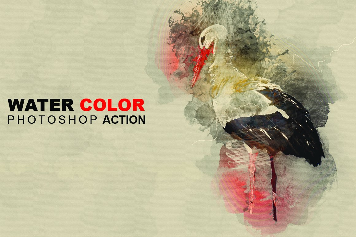 Watercolor photo effect pro plug ins creative market