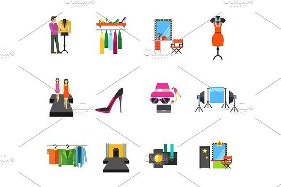 Fashion Show Icon Set