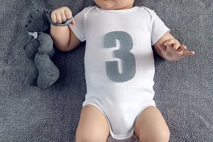 newborn to three months lying