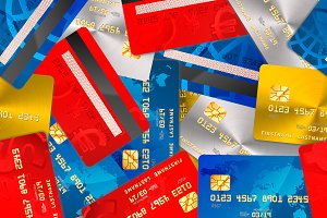 Different credit cards pattern
