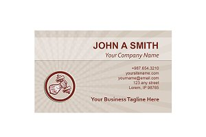 Business card template Hand Lifting