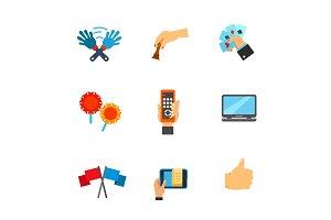 Mens activity icon set