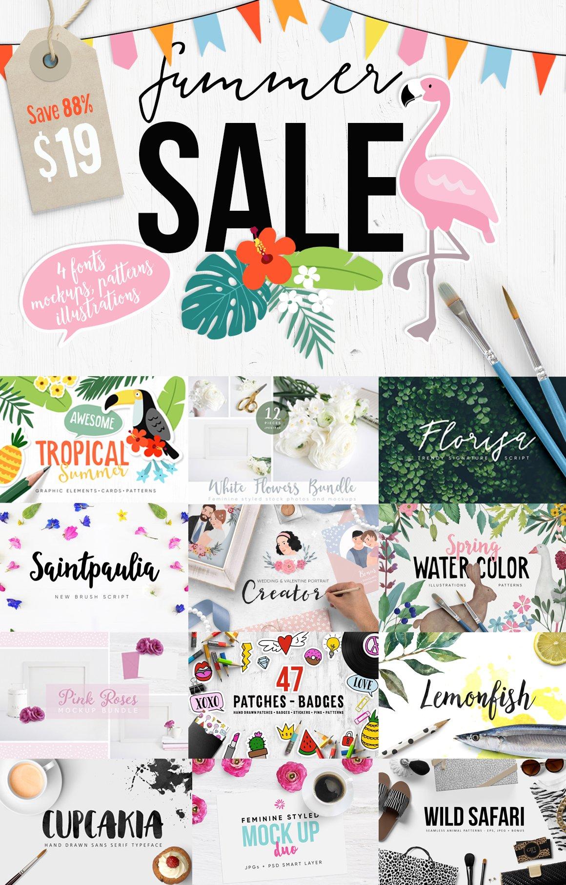 63aeb8a26ba Summer Sale Bundle 88% Off ~ Script Fonts ~ Creative Market