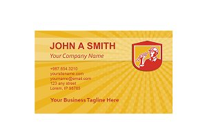 Business card template Electrician C