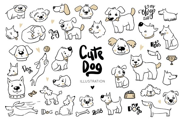 Cute dogs collection